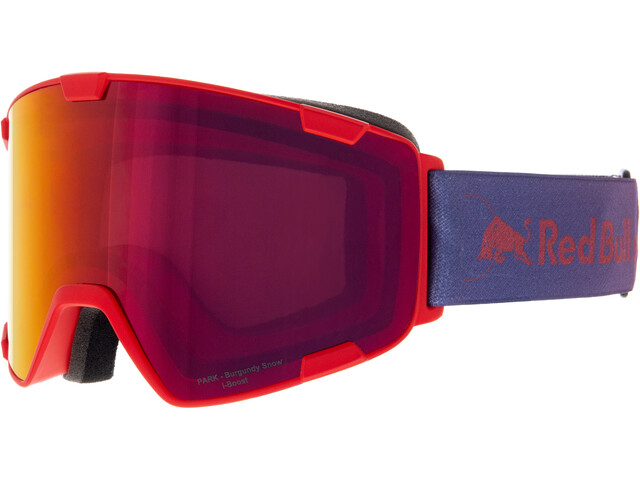Red Bull SPECT Park Lunettes de protection, red-burgundy snow